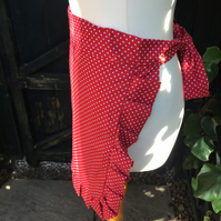 Half Apron Red Polka Dot