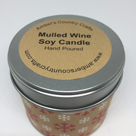 Mulled Wine Candle, Christmas candle