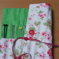 Knitting needle roll inc needles