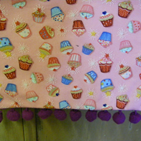 Peg bag in multi cupcake print. Freepost