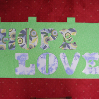 Wall hanging Love Hope