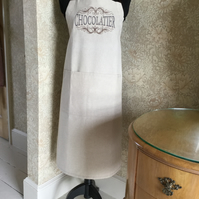 'Chocolatier' Embroidered Apron with pocket