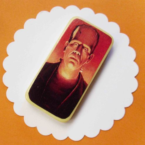 Halloween :: Boris Karloff :: Domino Brooch