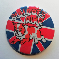 English Bulldog badge British dog badges
