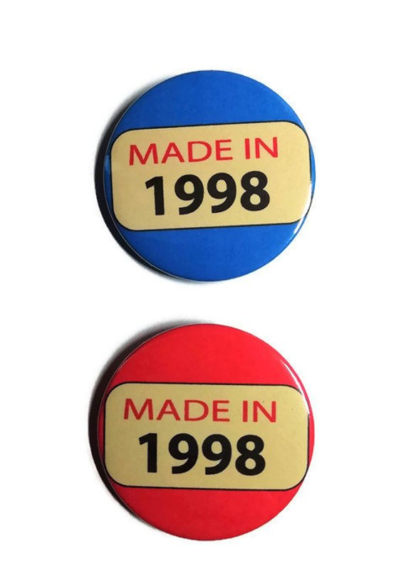 21st birthday badge Twenty one 1998 21st birthday party