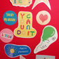Positive sticker set motivational sayings stickers for motivation