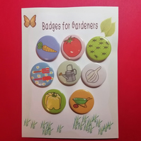 Badges for gardeners garden theme pin badge set