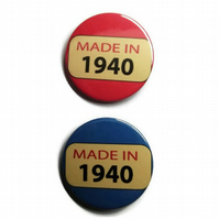 80th birthday badge 80 pin badge button made in 1940
