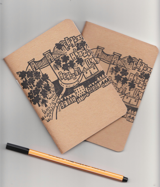 Bristol notebook - handprinted sketchbook