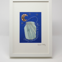 Carry Moonbeams Home in a Jar Embroidered picture