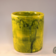 Green and Yellow Vase or Pencil Pot