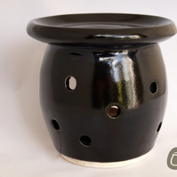Essential Oil Burner - Black Oil Burner - Candle Holder