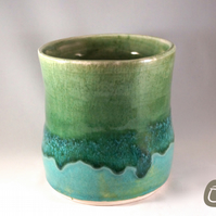 Vase - Teal and Green