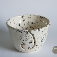Yarn Bowl - Cream and Grey Ceramic Wool Bowl