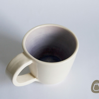 Cream and Purple Mug - Lavender cup