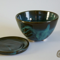 Berry Bowl - Midnight Blue - Ceramic Colander