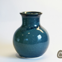 Midnight Blue Vase - Handmade Ceramic Flower Vase
