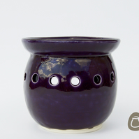 Essential Oil Burner - Speckled Dark Purple Oil Burner - Candle Holder