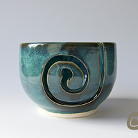Yarn Bowl - Midnight Blue Wool Bowl