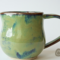 Milk Jug - Creamer - Pitcher - Green, blue and brown