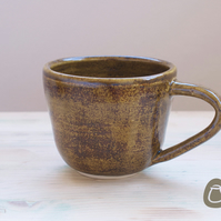 Cup - Brown Speckled Stoneware Mug - Coffee Cup