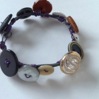 Wire and button bracelet