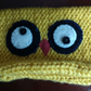 Novelty knitted yellow owl hat