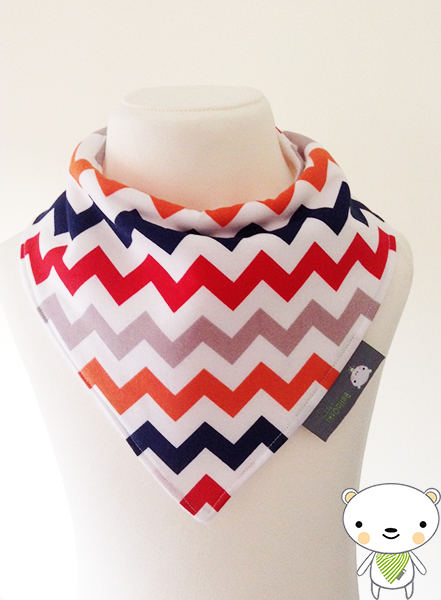 Handmade Baby Bandana Dribble Bib Riley Blake MULTI-COLOURED CHEVRONS Ideal Gift