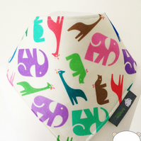 baby bib, bandana dribble bib, teething, jungle fabric, bibs, baby gift, baby