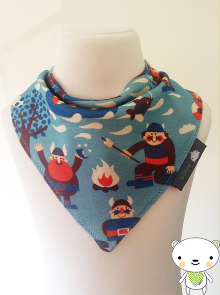 Handmade Baby Bandana Dribble Bib with Dutch Designer VIKIINGS Jersey Fabric