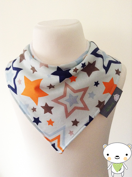 Handmade Baby Bandana Dribble Bib Riley Blake ONE FOR THE BOYS STARS Fabric GIFT