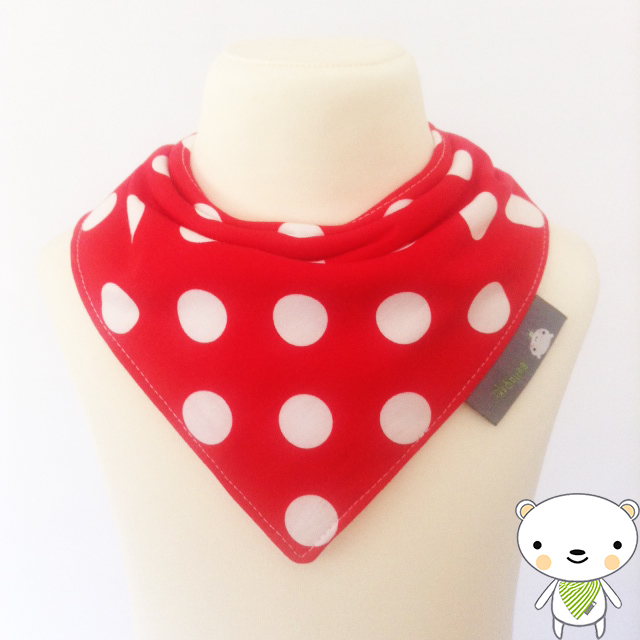 BellaOski BABY BANDANA DRIBBLE BIB Michael Miller THAT'S IT DOT MINNIE Fabric