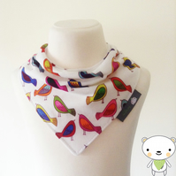 BellaOski Bandana Dribble Bib Alexander Henry SWEET TWEET BIRD Fabric IDEAL GIFT