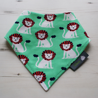 Bandana Dribble Bib Handmade MIllers Sprout Mini Lions Fabric NEW BABY GIFT IDEA