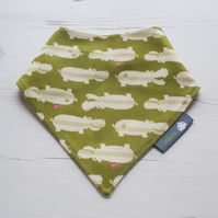 Bandana Dribble Bib Handmade Japanese Kokka Jungle Hippos NEW BABY GIFT IDEA