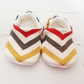 ORGANIC Birch SKINNY CHEVRONS MULTI Slippers Pram Shoes NEW BABY GIFT IDEA 0-18M