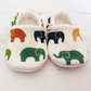ORGANIC Birch ELLIE ELEPHANT MULTI Slippers Pram Shoes NEW BABY GIFT IDEA 0-18M
