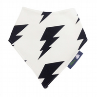 ORGANIC Baby Bandana Dribble Bib in LIGHTENING BOLT - A GIFT IDEA from BellaOski