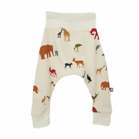ORGANIC Baby HAREM PANTS Relaxed Trousers SERENGETI TRIBE Gift Idea by BellaOski