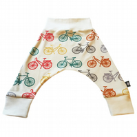 ORGANIC Baby HAREM PANTS Multi BICYCLES Relaxed Trousers GIFT IDEA by BellaOski