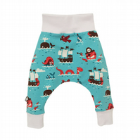 Baby HAREM PANTS Relaxed PIRATES Trousers Size 12-18 Months ONLY - A GIFT IDEA