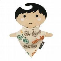 ORGANIC Baby Bandana Dribble Bib in BICYCLES - An ECO GIFT IDEA from BellaOski