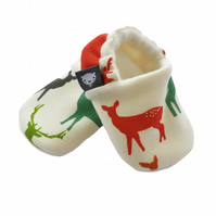 ORGANIC Birch ELK FAMILY MULTI Slippers Pram Shoes NEW BABY GIFT IDEA 0-24M