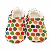 Baby Pram Shoes in DOTTIE Boys Girls soft soled Slippers Unisex GIFT IDEA 0-24M