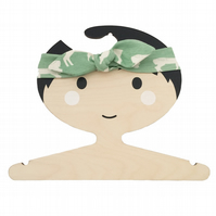 ORGANIC Baby Knotted Headband in ELK FAM POOL - An ECO GIFT IDEA from BellaOski