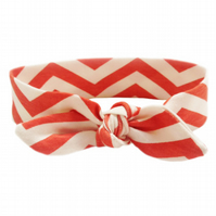 ORGANIC Baby Knotted Headband in CHEVRONS CORAL An ECO GIFT IDEA from BellaOski