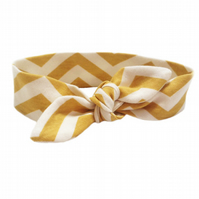 ORGANIC Baby Knotted Headband in CHEVRONS SUN - An ECO GIFT IDEA from BellaOski
