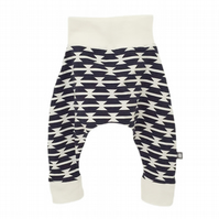 Baby HAREM PANTS Relaxed Trousers ART GALLERY TOMAHAWKS Size 3-6 Months ONLY