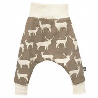 ORGANIC Baby HAREM PANTS Relaxed Beige ELK FAM Trousers A GIFT IDEA by BellaOski