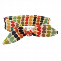 Baby Headband in ORGANIC MULTI PEBBLE STRIPE - Eco Baby Hairband Gift Idea